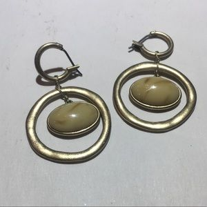Vintage LC Stone Ring earrings